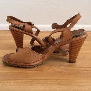 Vintage Wooden High Heel